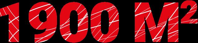 1900 m²